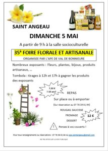 35ème Foire Florale et Artisanale @ Salle socioculturelle